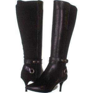 Tahari Tabor Tall Wide Calf Dress Boots Black